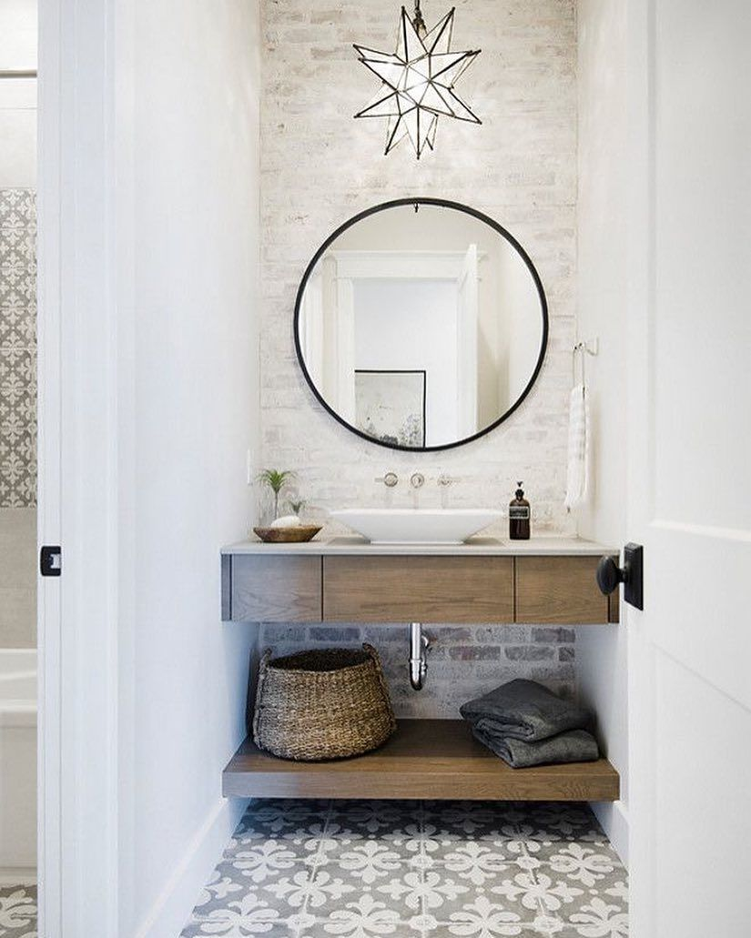 Pin by Kenoa Leilani on H O M E. | Pinterest | Vanity area, Brick ...