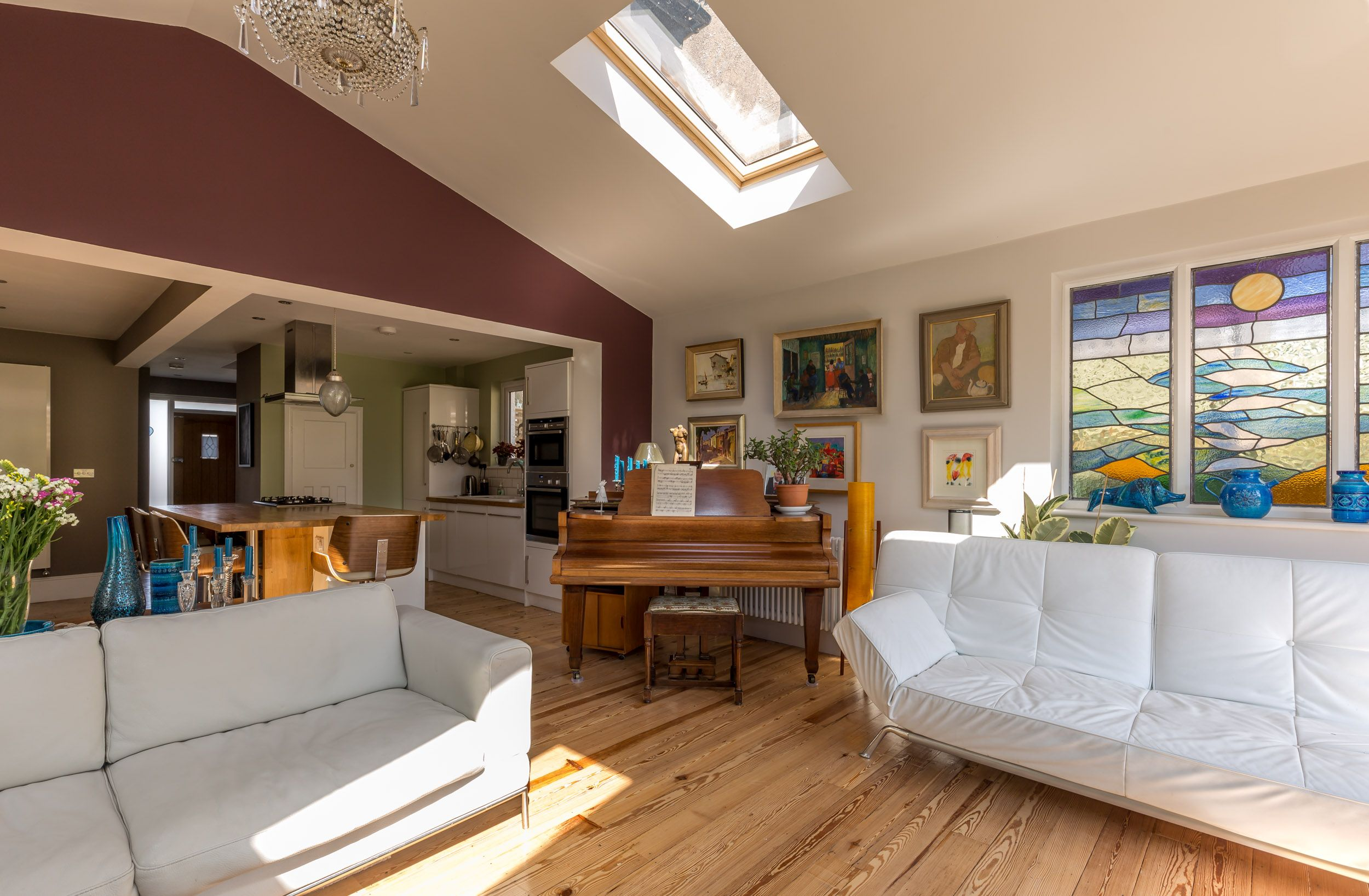 Pitched Roof Extension - Vaulted Ceiling - Velux Rooflight -