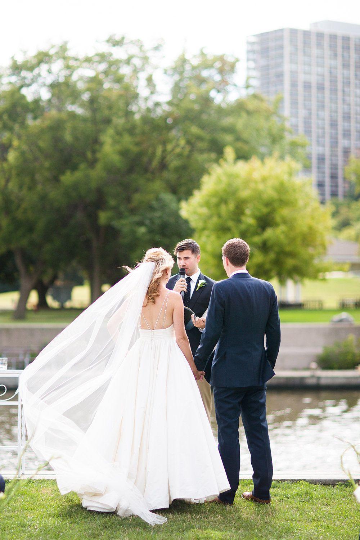 Lindsey + Nick\'s Nautical Milwaukee Wedding |Gown: Lea-Ann Belter ...