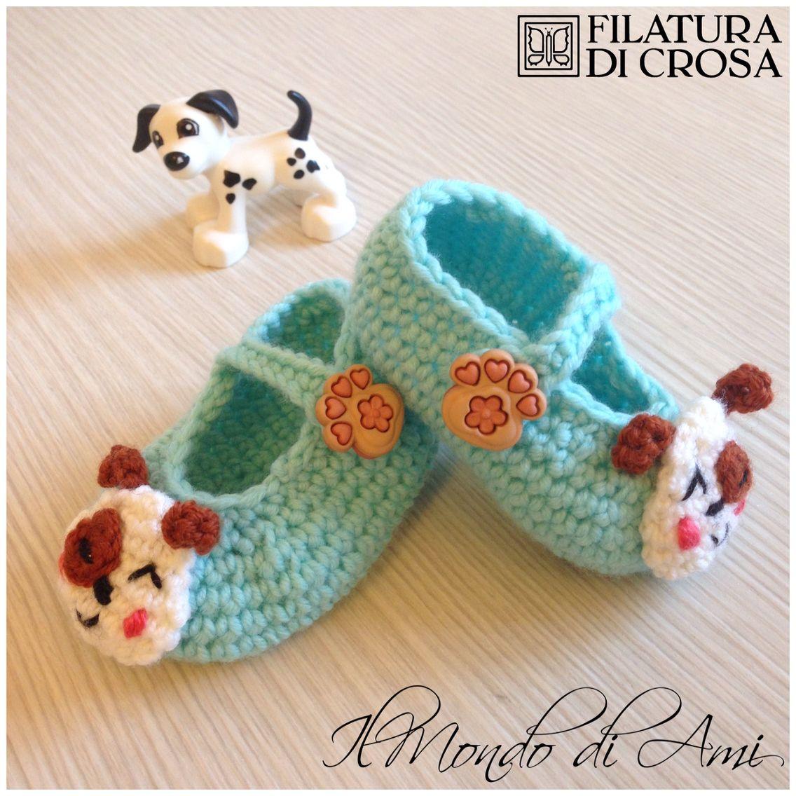 Scarpine neonato realizzate con filato Zara, Excellent Baby Filatura di Crosa #scarpine #neonato #baby #shoes #babyshoes #amigurumi #crochet #uncinetto #handmade #fattoamano #filato