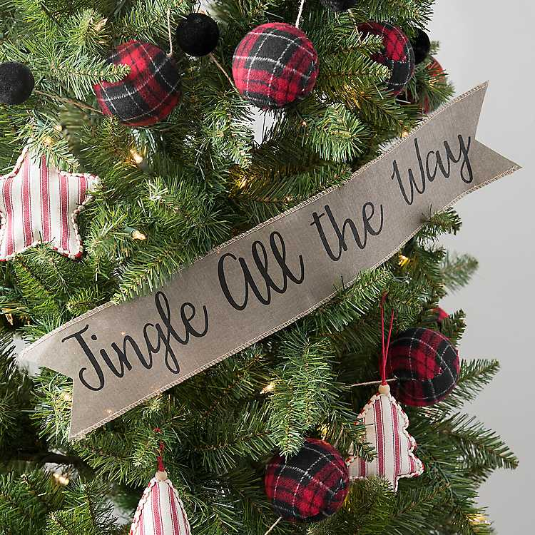 Jingle All The Way Paper Banner Christmas Tree Inspiration Christmas Tree Decorations Jingle All The Way