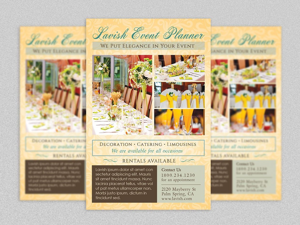 event planner flyer template events print templates templates