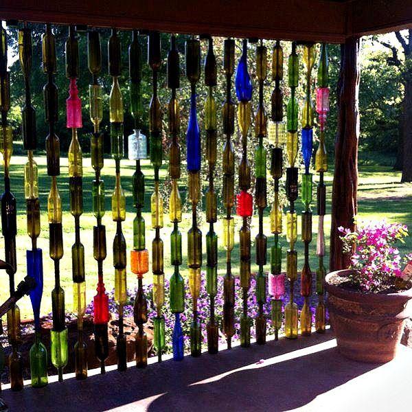 Botellas de vidrio de colores