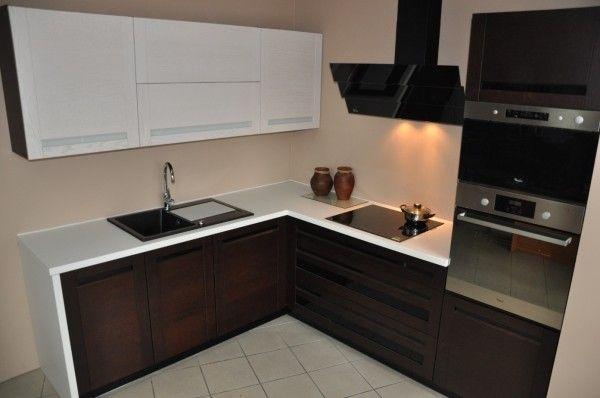 meble kuchenne mała kuchnia  Szukaj w Google  kitchen   -> Kuchnia Dąb Ecru