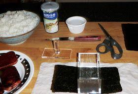SANDRA'S ALASKA RECIPES: SANDRA'S HAWAIIAN SPAM MUSUBI