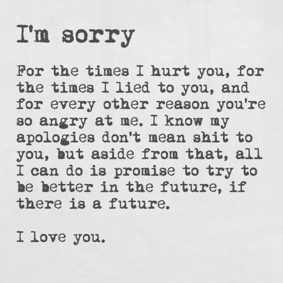 Say Sorry With These I Apologize For My Mistake Quotes
