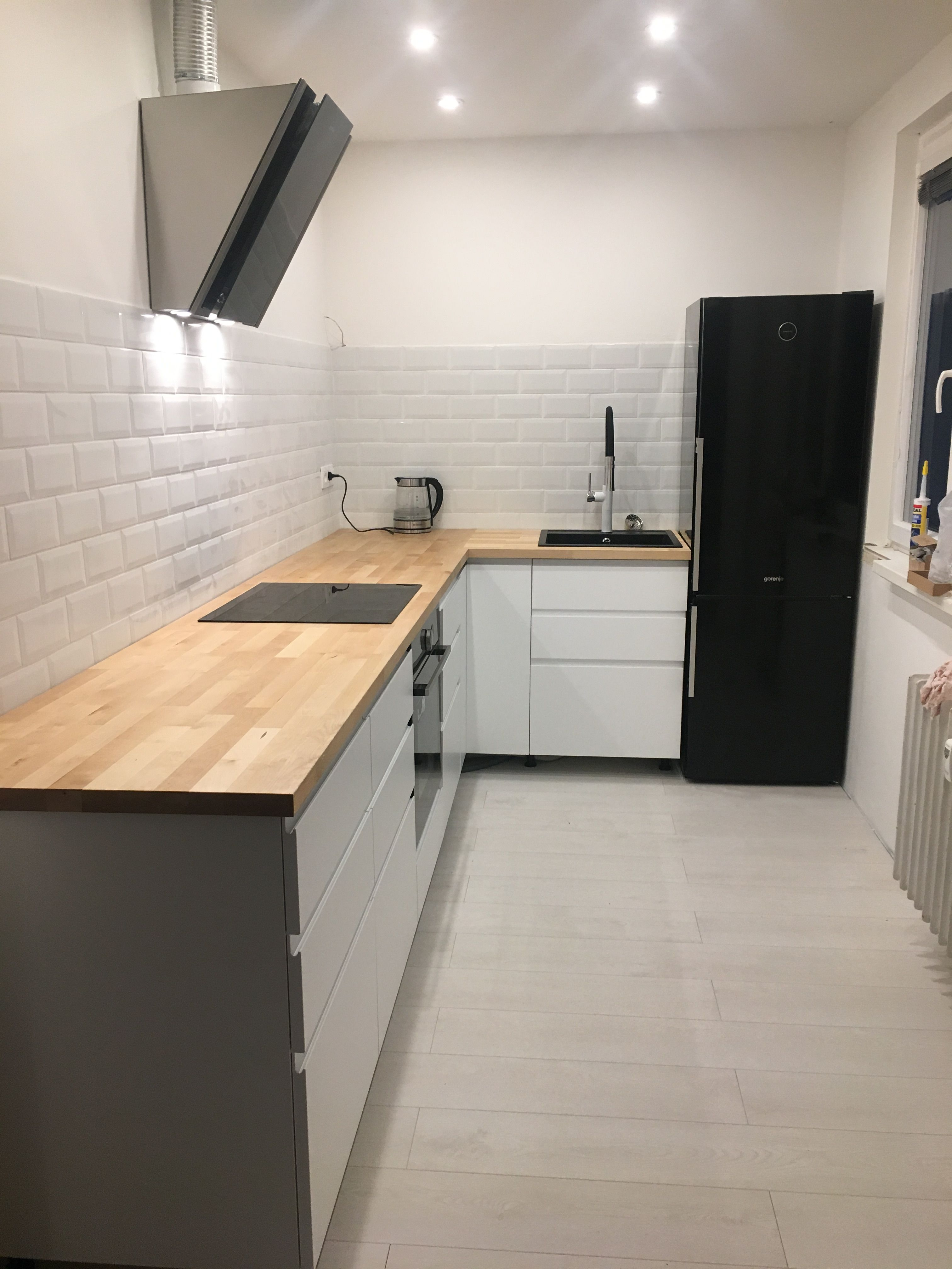 Ikea Voxtorp Simply Kitchen From Ikea Voxtorp Black And White Is The
