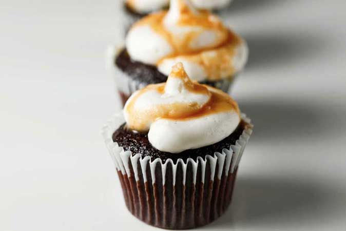 sea salt caramel cupcake
