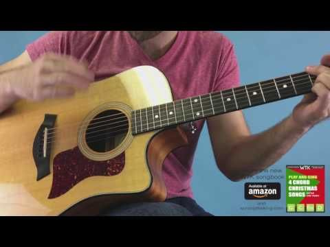 Super Simple O Holy Night 4 Chord Guitar For Beginners Youtube