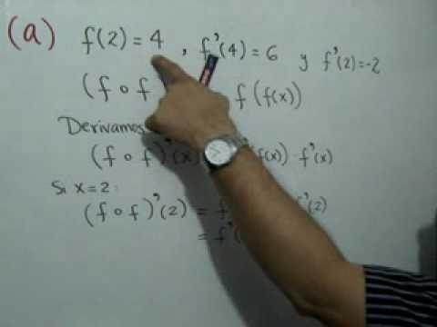 Ejercicio Sobre Derivadas Calculo Diferencial E Integral Matematicas Regla De La Cadena