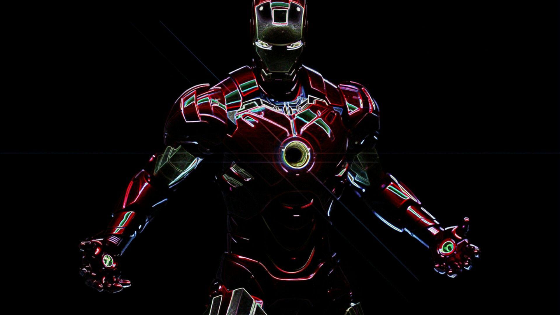 Iron Man Neon Iron Man Hd Wallpaper Iron Man Hd Images Iron Man Wallpaper