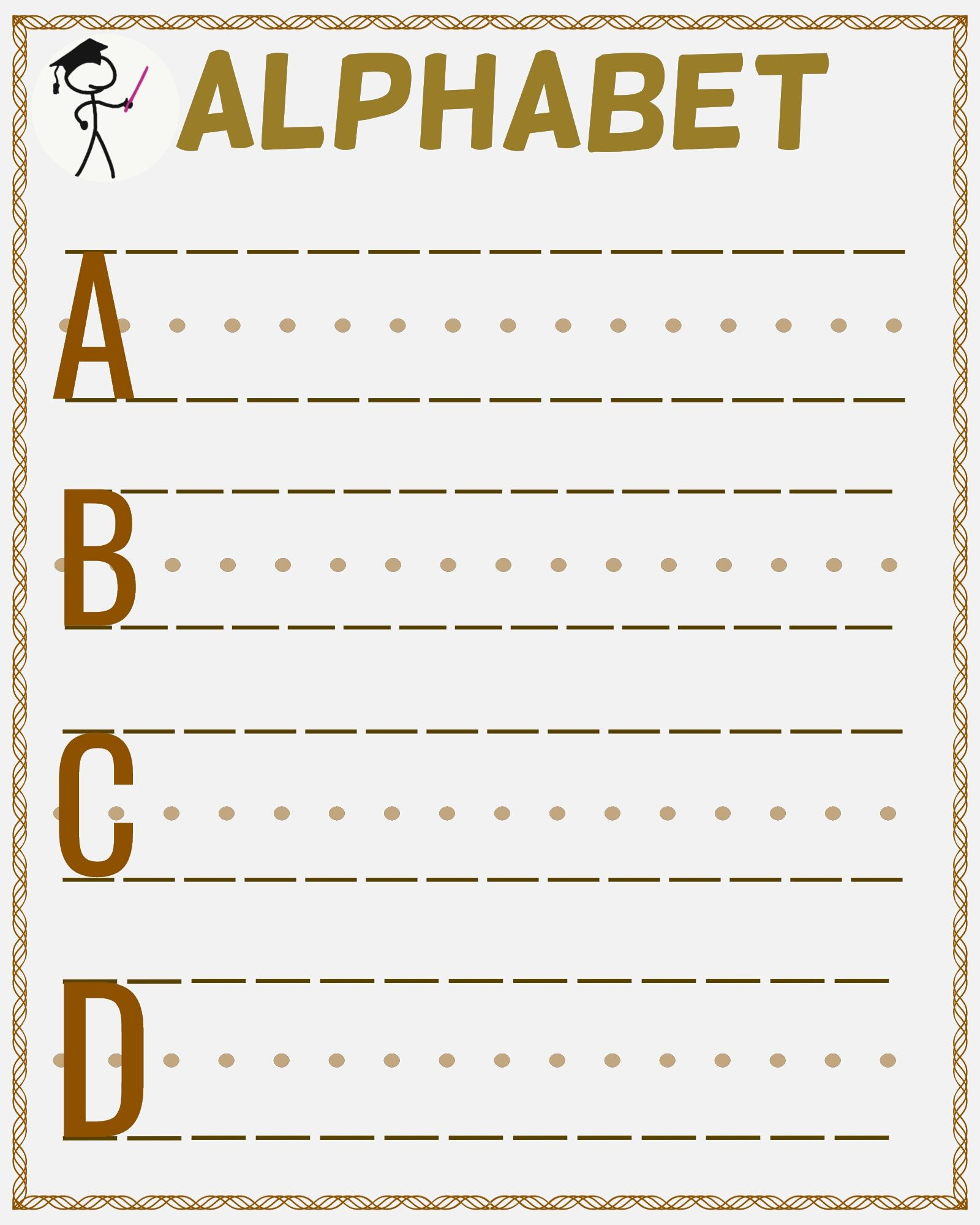 English Alphabet Writing Practice