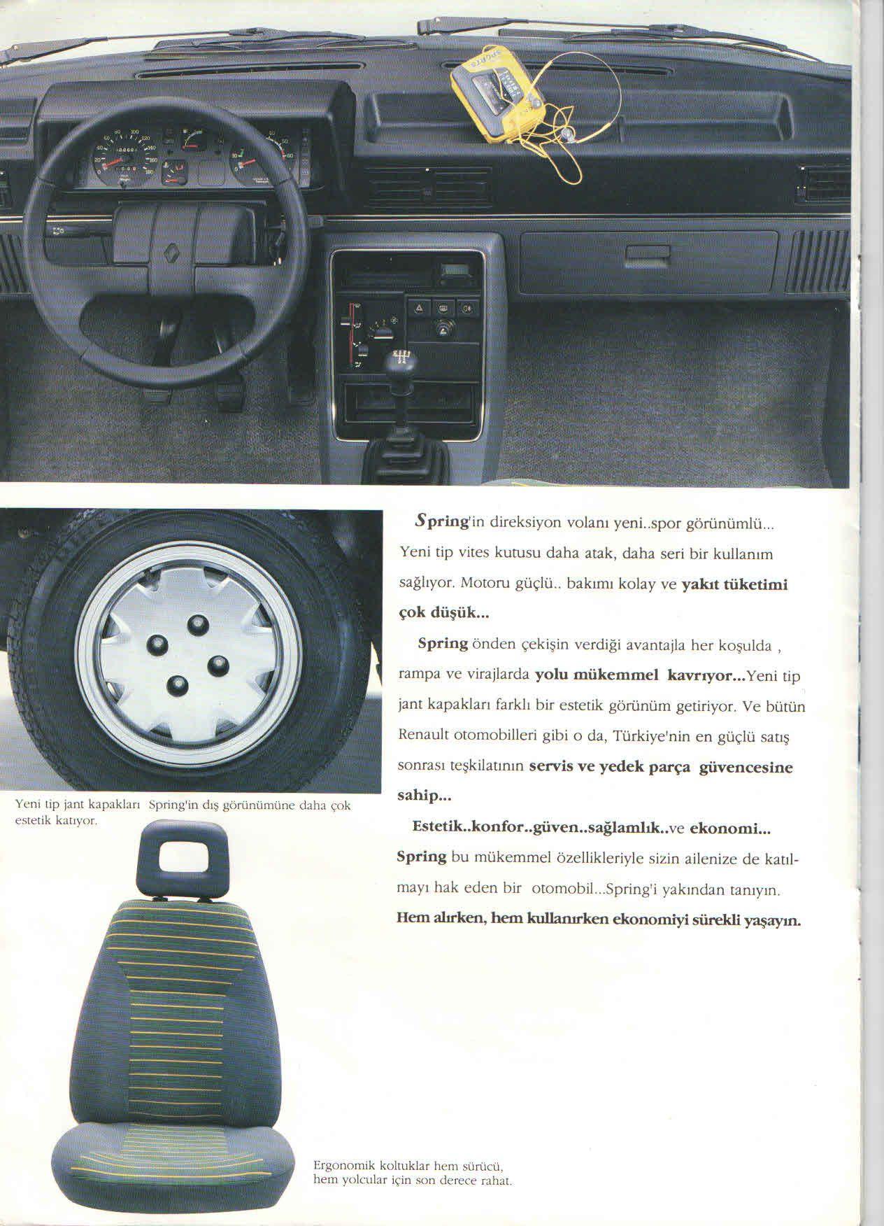 1992 Renault 9 Spring Turkish Catalog Page 6 8 1992 Renault 9 Spring Turkce Katalog Sayfa 6 8 Araba Klasik Arabalar Jant