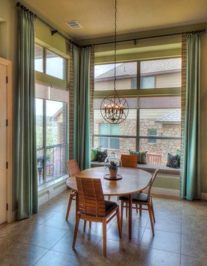 For A Softer Sophisticated Vibe Go For A Dining Room Palette Of Cooler Bluish Dining Room Window Treatments Dining Room Windows Dining Room Furniture Modern
