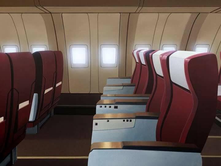 Plane Interior Cenario Anime Fundo De Animacao Fundo Para Video