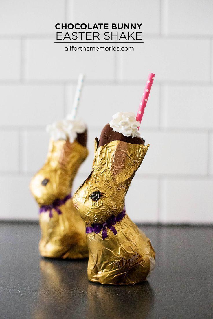 Photo of Chocolate Bunny Easter Shake   A shake served inside of a chocolate bunny! So cu…