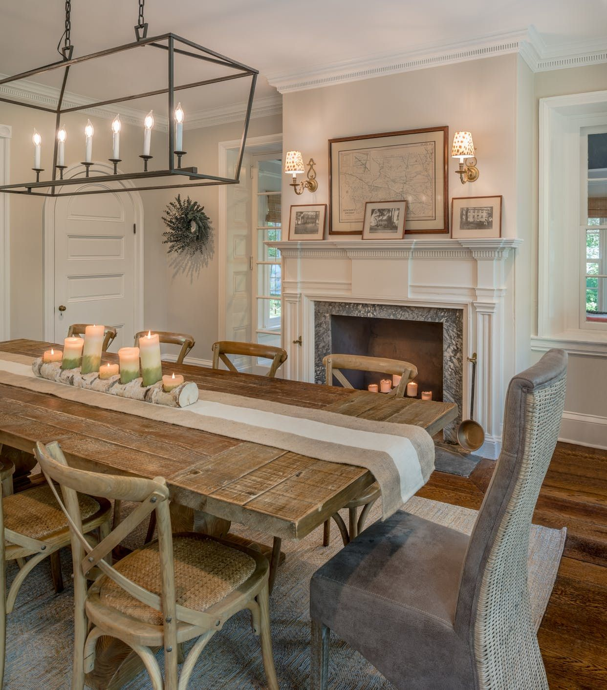 Renovated dining room of a 19th century Pennsylvania