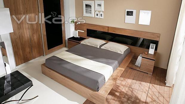 decoracion nogal y negro | camas | Pinterest | Negro, Dormitorio y ...