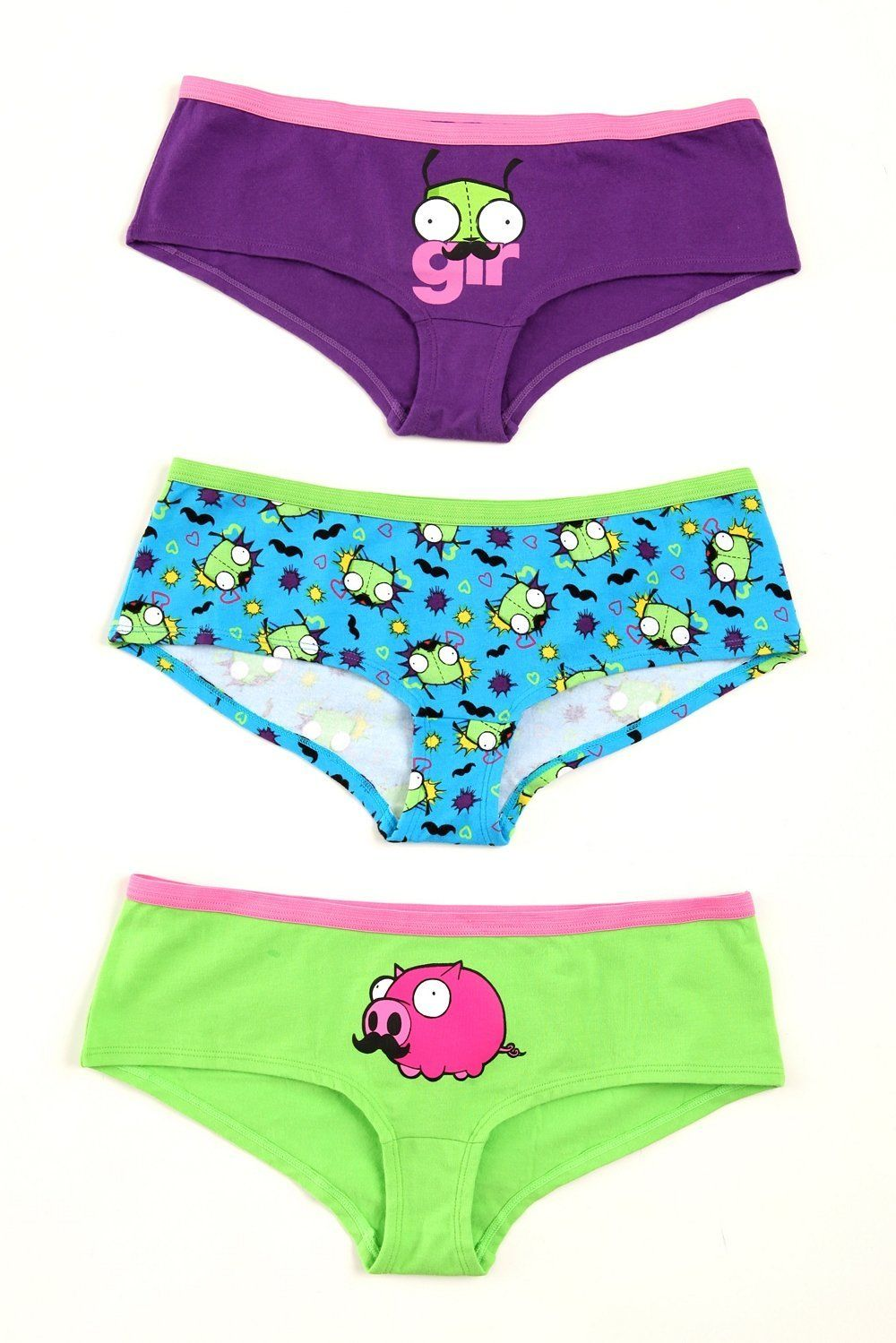 Invader Zim Mustache Hot Pants 3 Pack (With images) Hot