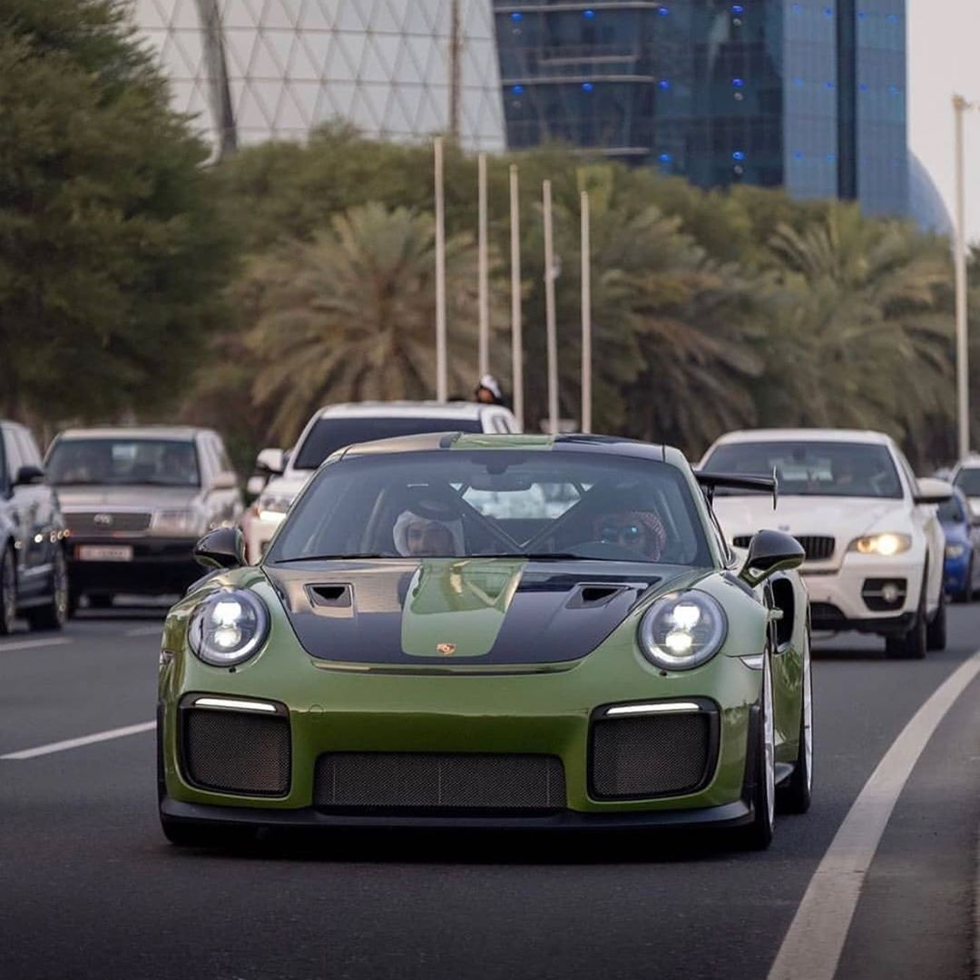 Olive Green Gt2 Rs In Qatar Cars Supercar Luxury Luxurycars