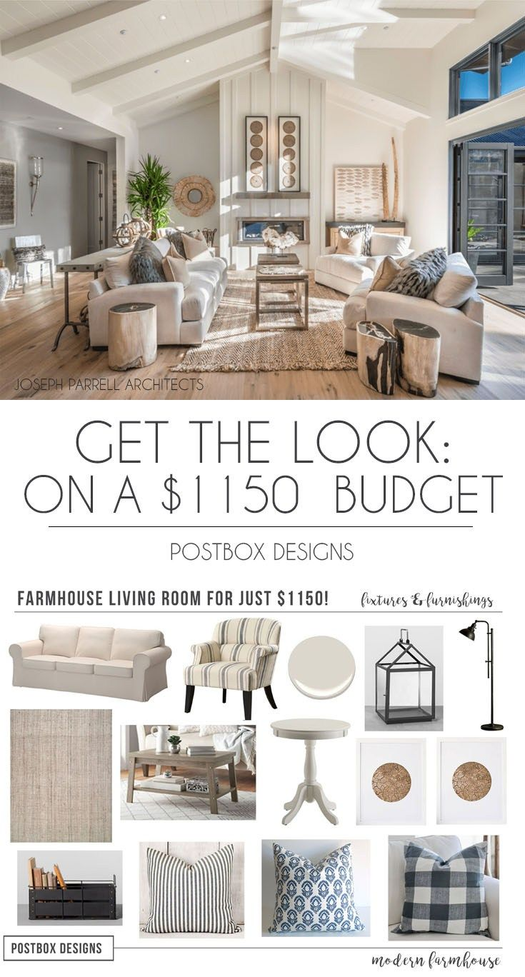 Living Room Design Program Captivating $1150 Farmhouse Living Room Makeover Design Jumpstart Program Inspiration