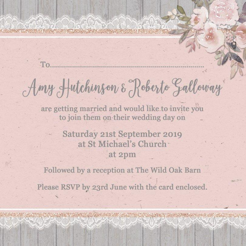 32+ Elegant Picture Of Example Wedding Invitations