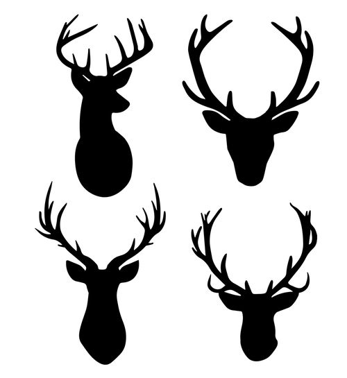 Free Deer With Antlers Svg Cut Files Free Svg Files Pinterest
