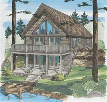 highspire ii chalet prefab from ritz craft lakes house plans rh pinterest com