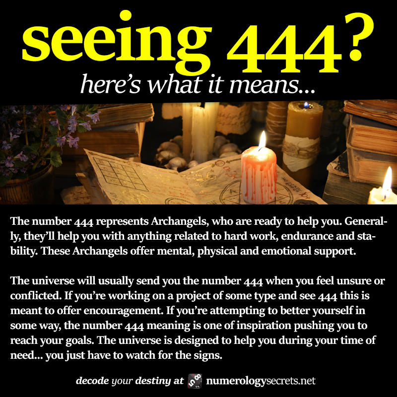 Seeing 444 Learn More At Httpnumerologysecretsnumerology