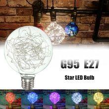 E27 G95 Estrellado Cielo Retro Vintage Filamento Edison Led De Fuegos Artificiales De Navidad Multicolor Decoracion Lampara De La Bombilla Ac Con Imagenes Bombillas De Edison