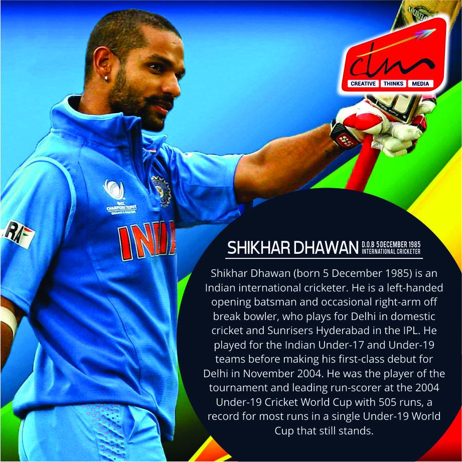 ShikharDhawan birthdaywishes cricketer celebrity ctm
