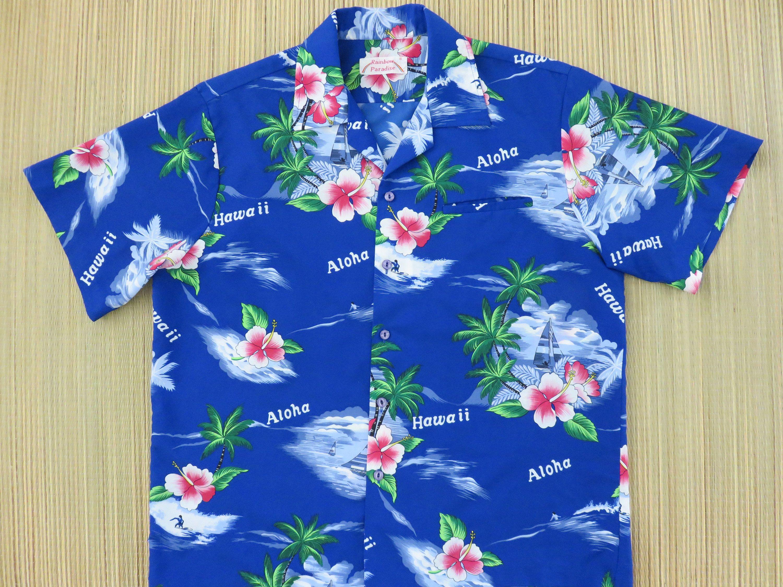 b0bdbc9f Vintage Hawaiian Shirt RAINBOW PARADISE 80s Hawaii Surfer Beach Boy Mod Aloha  Shirt Surfing Sailboating Mens - L - Oahu Lew's Shirt Shack by ...