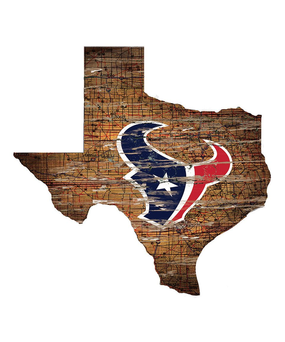 Pics photos houston texans logo chris creamer s sports - Love This Houston Texans State Shape Sign By Nfl On Zulily Zulilyfinds