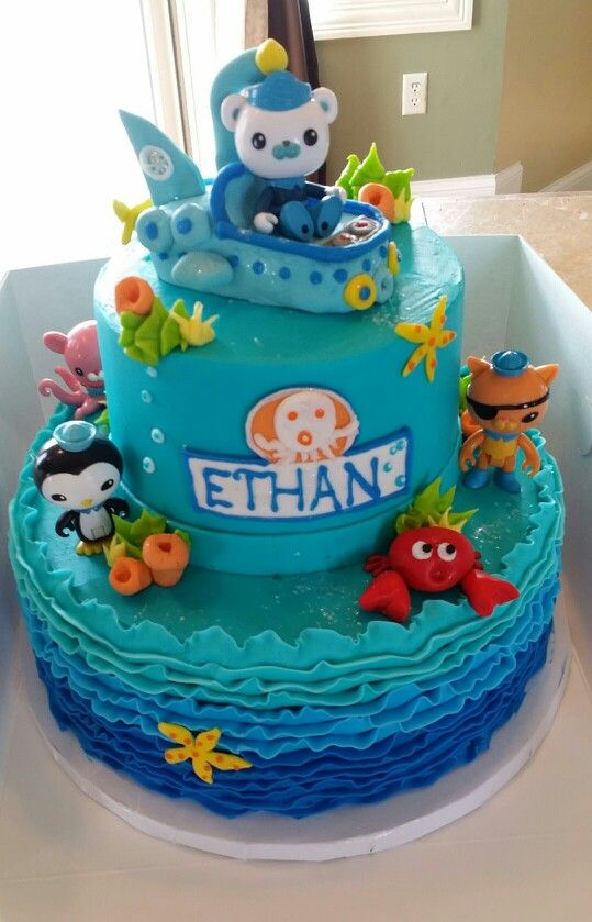 Surprising Octonauts Cake With Images Octonauts Birthday Party First Funny Birthday Cards Online Alyptdamsfinfo