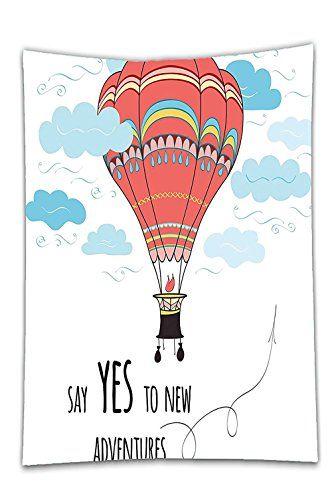 Interestlee Satin Drill Tableclothcartoon Inspirational Quote Say