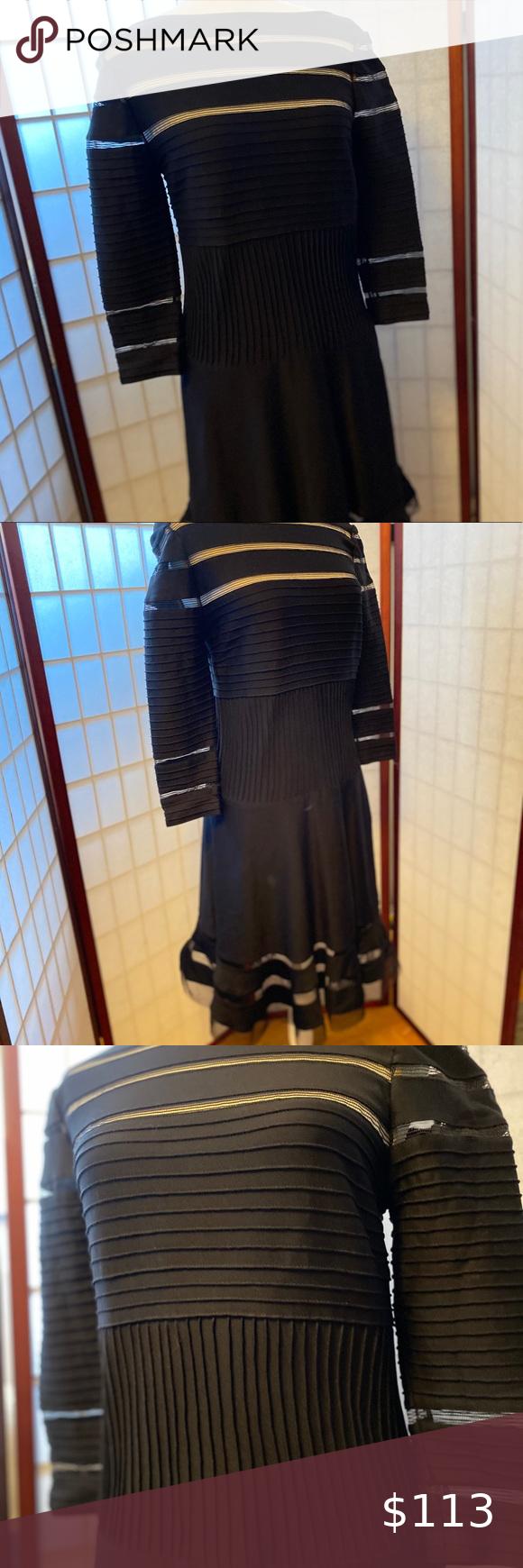 Tadashi Shoji Tiered Black Dress Black Tiered Dress Cocktail Dress Lace Women S Evening Dresses [ 1740 x 580 Pixel ]