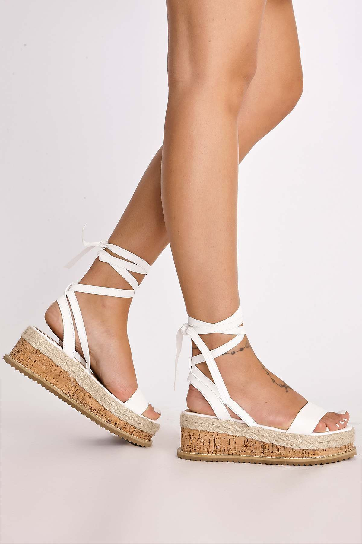 f302c1d72 Check these flatform tie up sandals out! The perfect summer footwear to  complete any outfit.