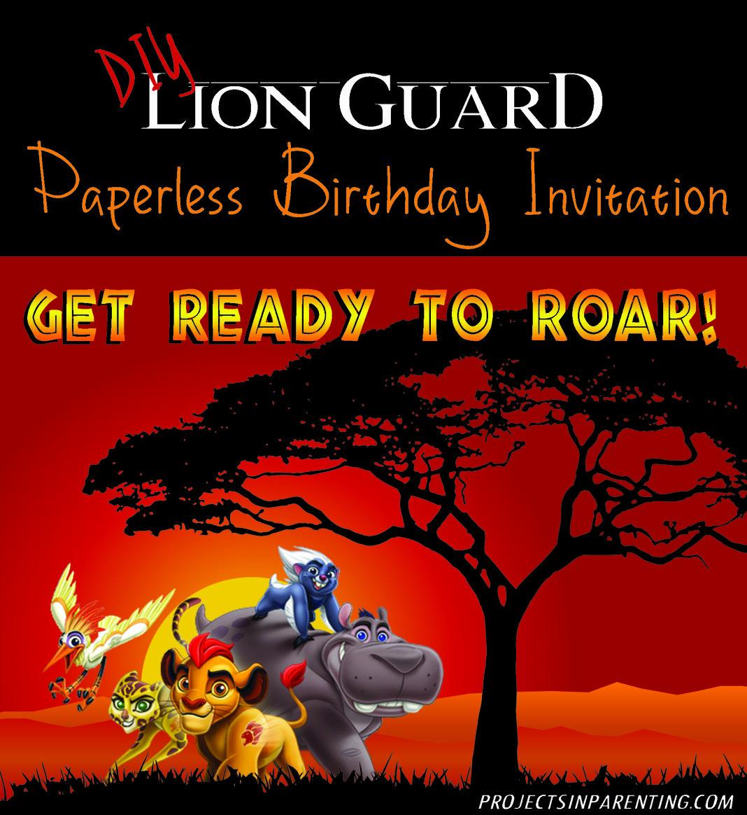 DIY Lion Guard Paperless Birthday Party Invite   kenzie birthday ...