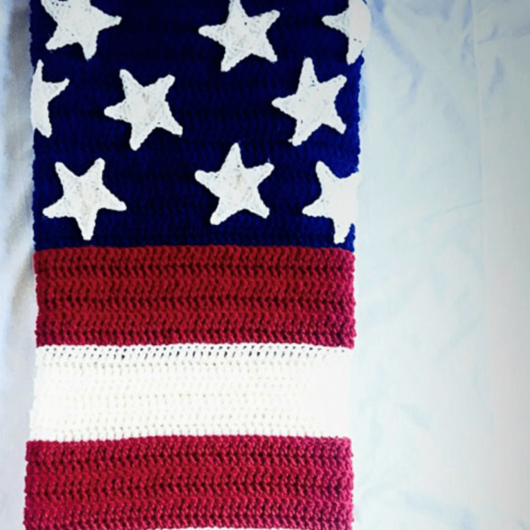Make This Free American Flag Crochet Blanket! - YarnHookNeedles