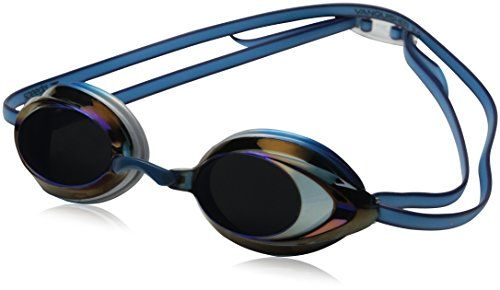 Speedo Vanquisher 2.0 Mirrored Swim Goggle, Pacific Blue - If you like our original Vanquisher Plus mirrored goggle, you will love this next generation Vanquisher 2.0 Plus with 25% more peripheral vision. It has the same soft silicone seal and a new two color double headstrap with ergonomic clip for super easy adjustability and a snug watertight fit. The...