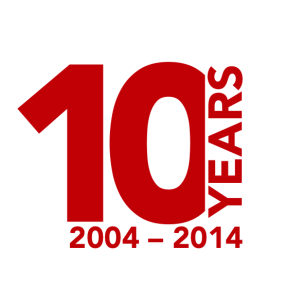 10 years | ▷︎Anniversary logo | Pinterest | 10 years ...