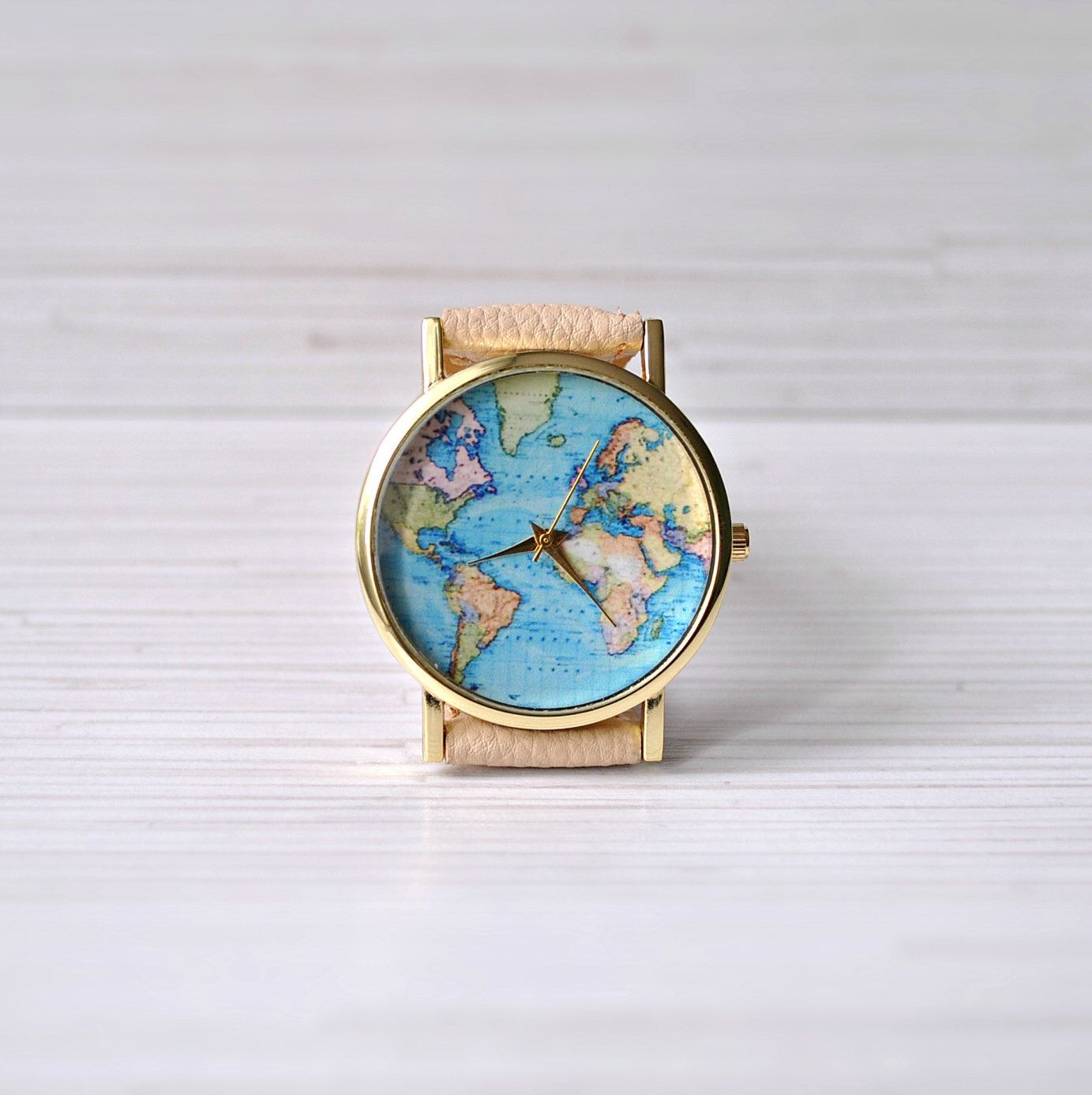 World map watch gift for women travel map leather watch mens world map watch gift for women travel map leather watch mens watch gumiabroncs Image collections