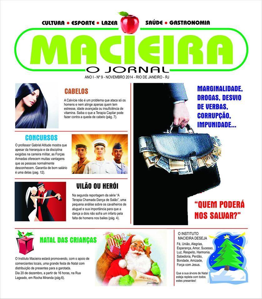 Chamada e capa mês de novembro jornal Macieira.Aguardem a matéria de moda Lopes Visual Merchandising.