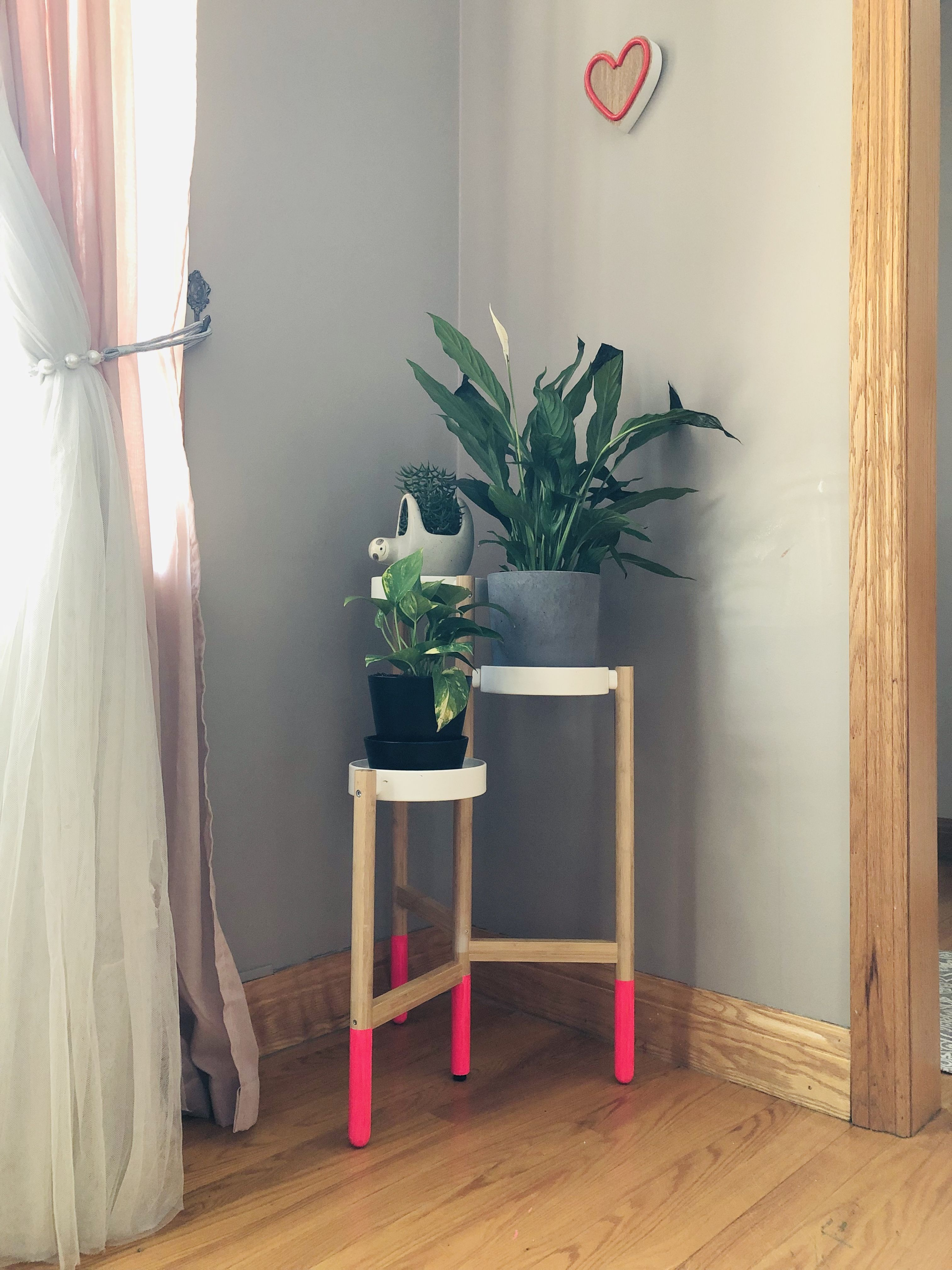 IKEA SATSUMAS plant stand. DYI painted legs   Plant stand ...