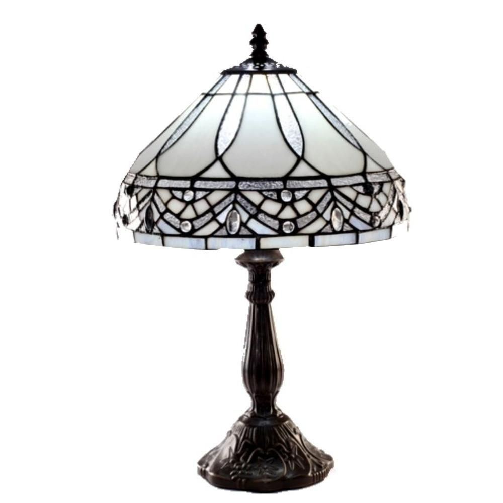 Warehouse Of Tiffany White Jewels 19 In Bronze Stained Glass Table Lamp 1150mb06 With Images Tiffany Style Table Lamps Stained Glass Table Lamps Tiffany Style Floor Lamps