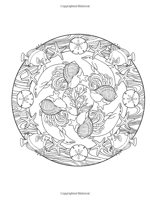 Creative Haven Nature Mandalas Coloring Book | Dover Coloring ...