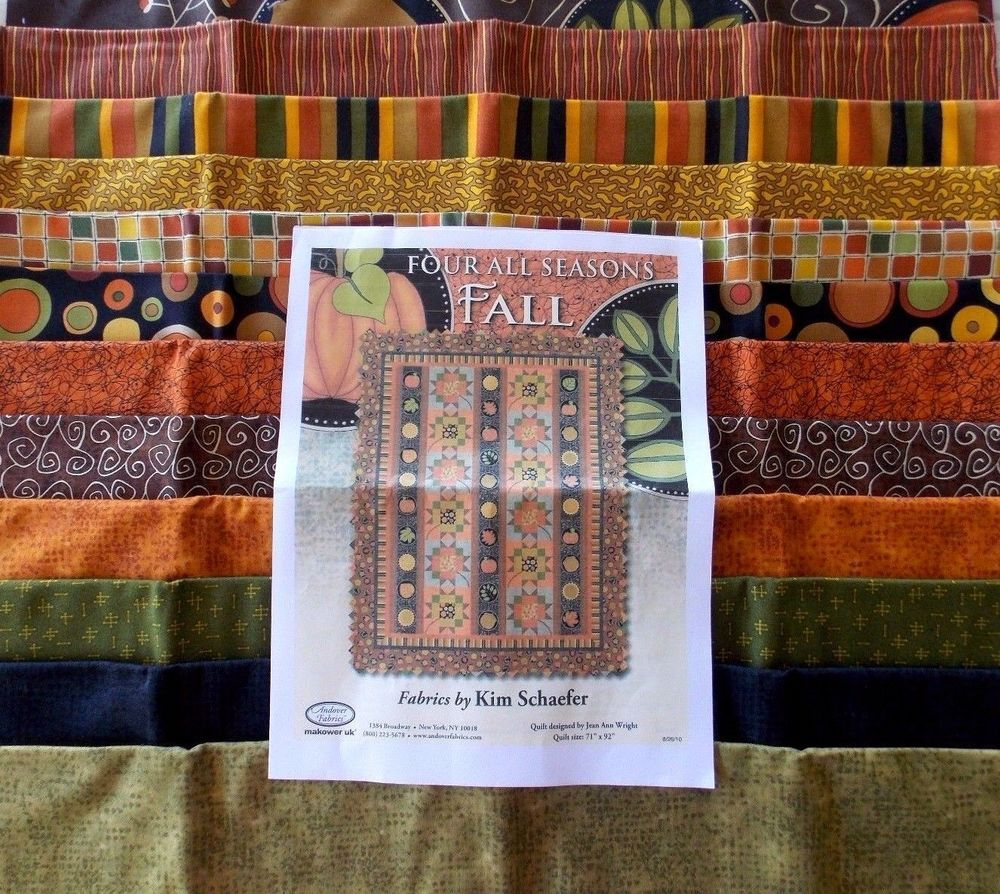 For All Seasons Fall Quilt Fabric Kit Finished Size 71