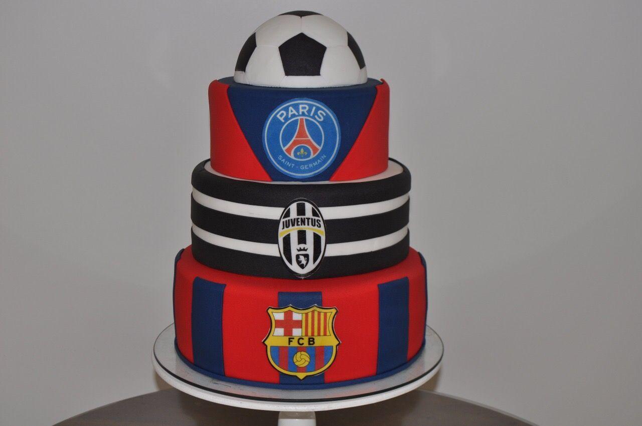 Bolo Psg Juventus E Barcelona Barcelona Cake Cake Birthday Cake