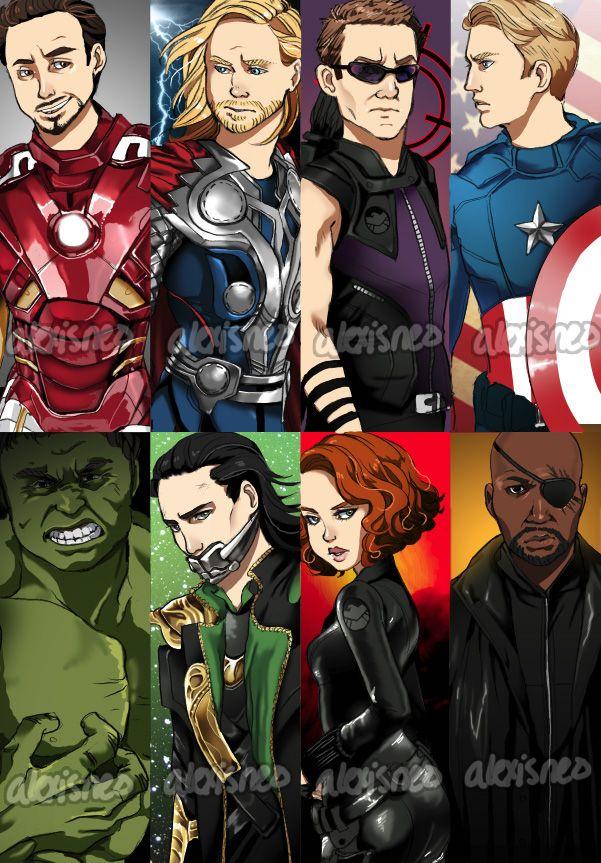 Avengers Bookmarks by ~alexisneo on deviantART Marvelmainly
