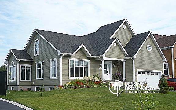 Plan de Maison unifamiliale W2284 Modèles de maison champêtre ou